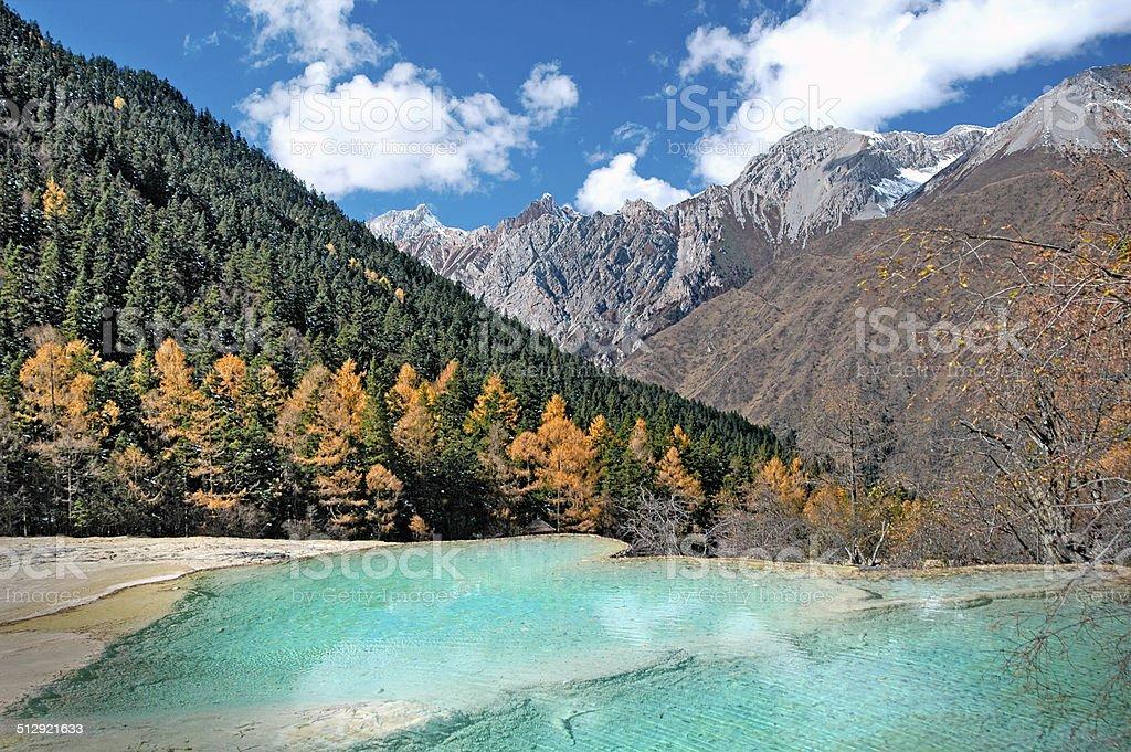 Huanglong Scenic,Sichuan,China stock photo