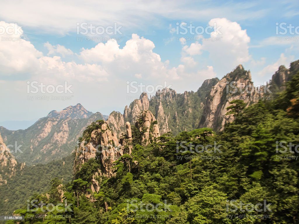 HuangShan in China stock photo