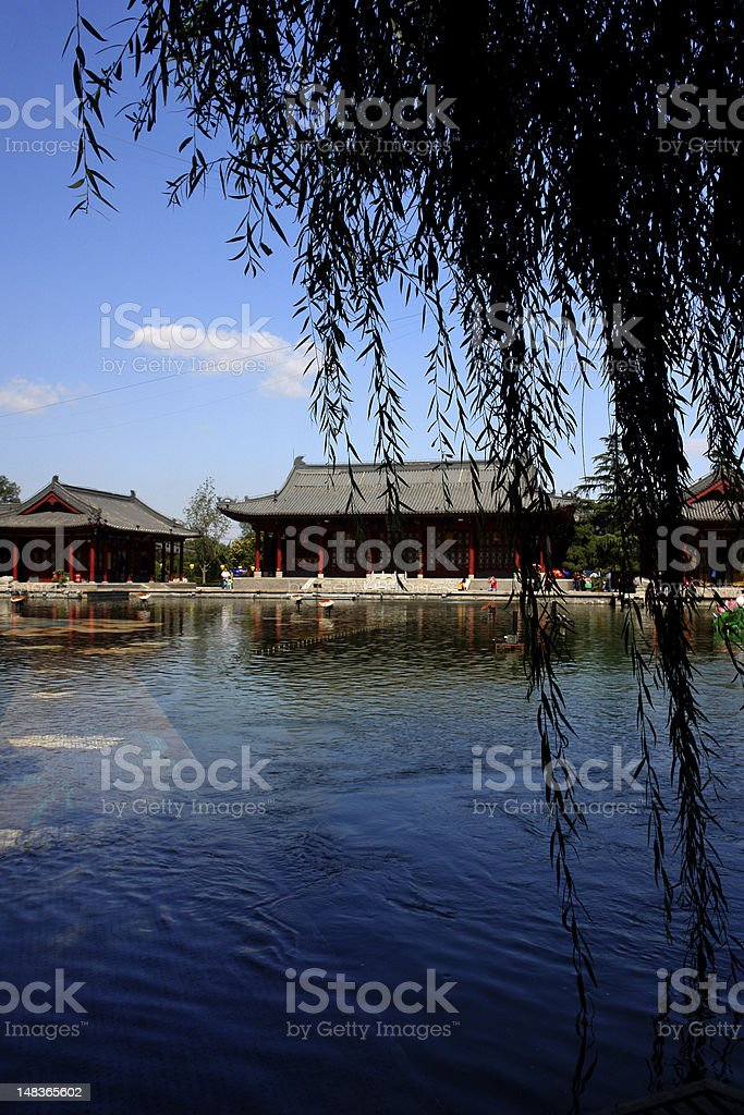 Huaqing Pool stock photo
