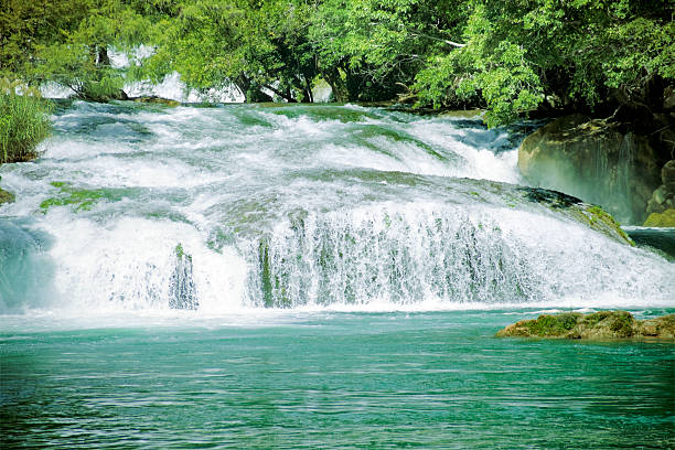 huasteca a fall in the huasteca region in mexico san luis potosi stock pictures, royalty-free photos & images