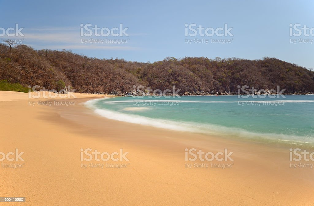 Huatulco Beach stock photo