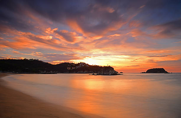 Huatulco Sunrise stock photo