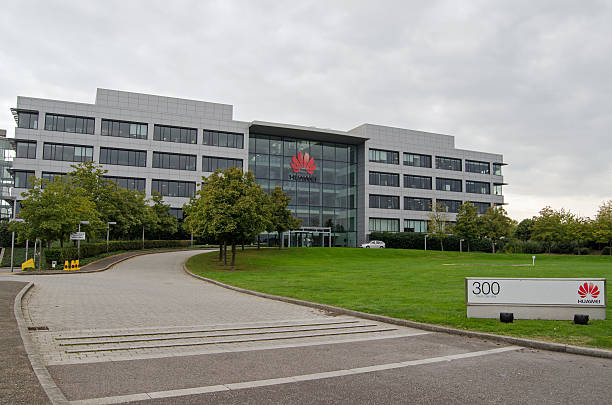 Huawei offices, Reading stock photo