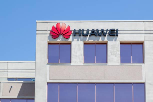 huawei technologies canada office building in markham, ontario, canada - huawei foto e immagini stock