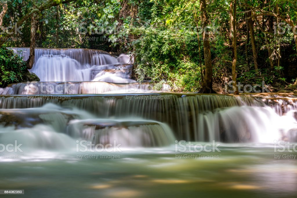 Huay Kamin Waterfall : Tier 1 'nKanchanaburi, Thailand stock photo