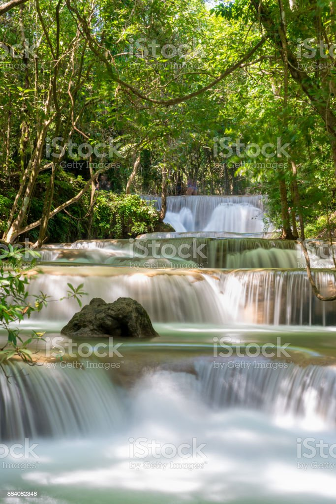 Huay Kamin waterfall: Tier 1'nKanchanaburi, Thailand stock photo