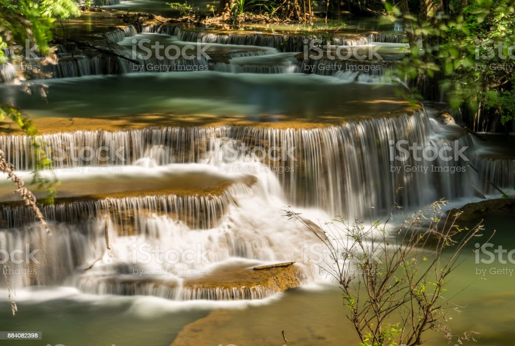 Huay Kamin Waterfall : Tier 4 'nKanchanaburi, Thailand stock photo