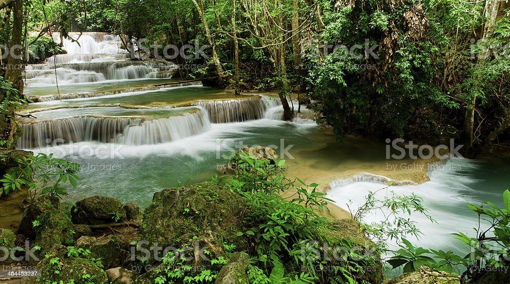 Huay Mae Kamin waterfall asia thailand royalty-free stock photo