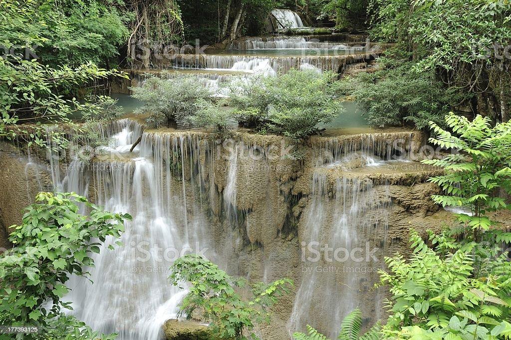Huay Mae Kamin Waterfall royalty-free stock photo