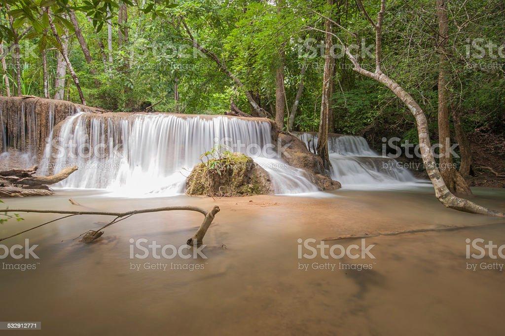 Huay mae Kamin waterfall, stock photo