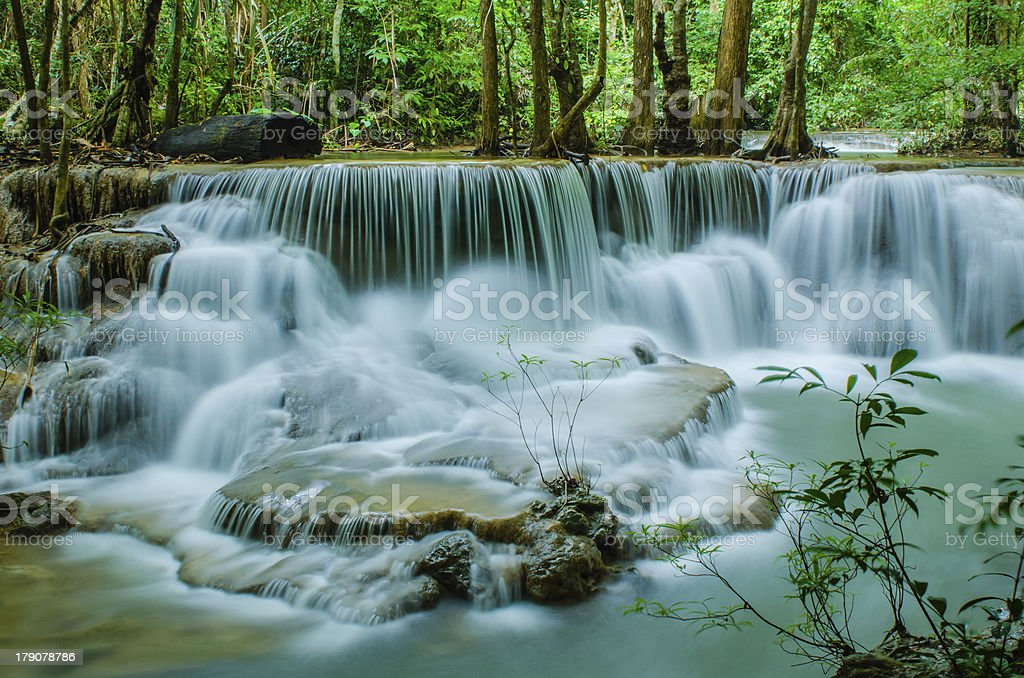 Huay Mae Khamin , Waterfall. royalty-free stock photo