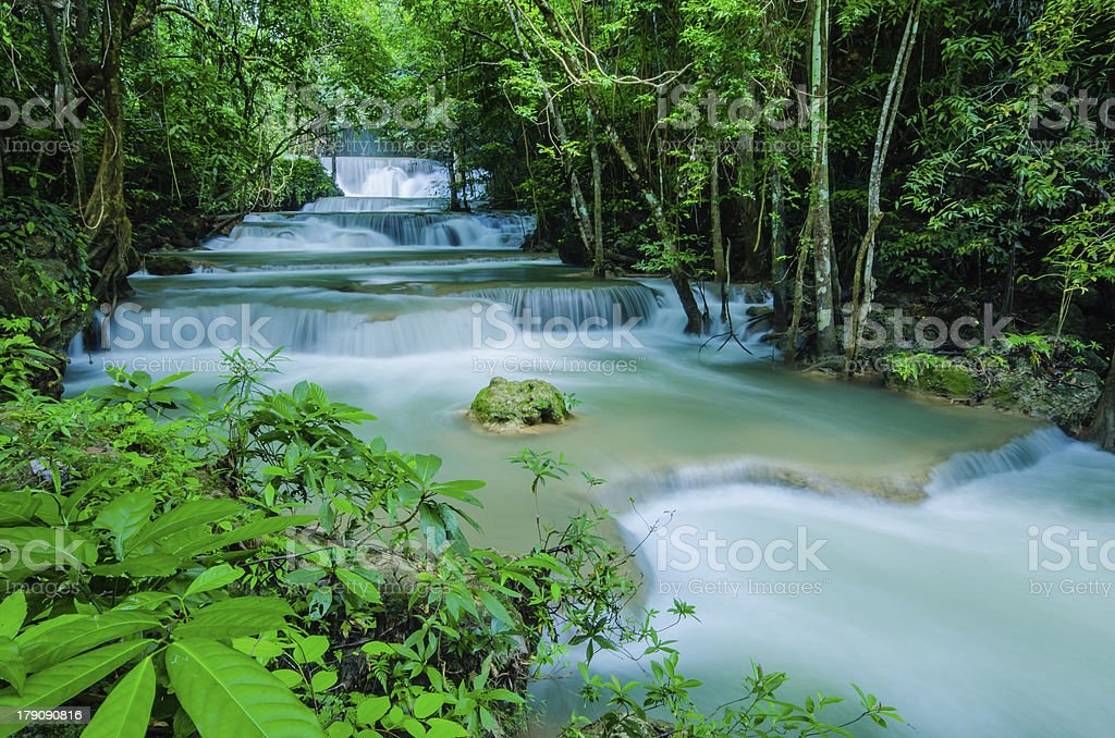 Huay Mae Khamin , Waterfall. royalty-free stock photo