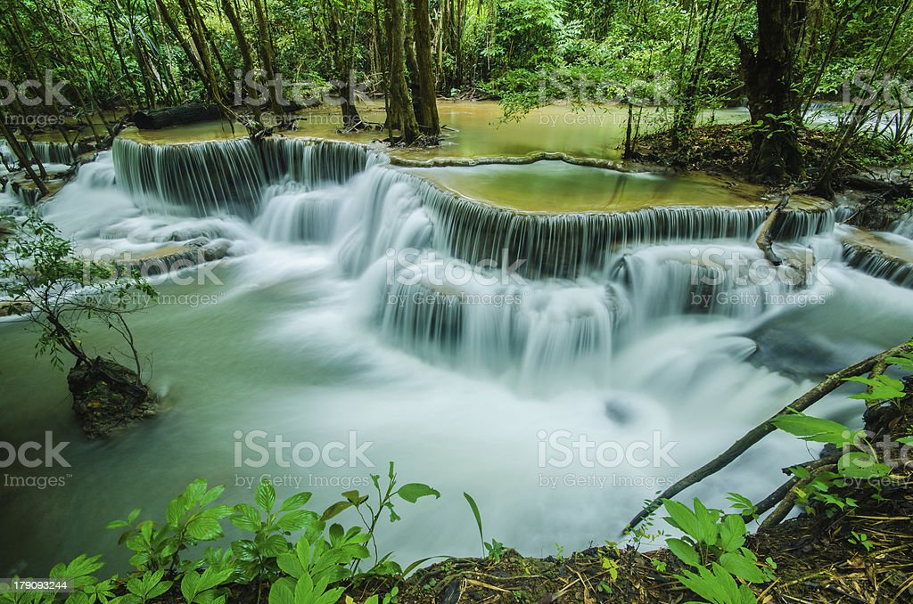 Huay Mae Khamin - Waterfall royalty-free stock photo
