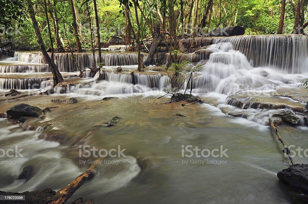 Huay Mae Khamin Waterfall royalty-free stock photo