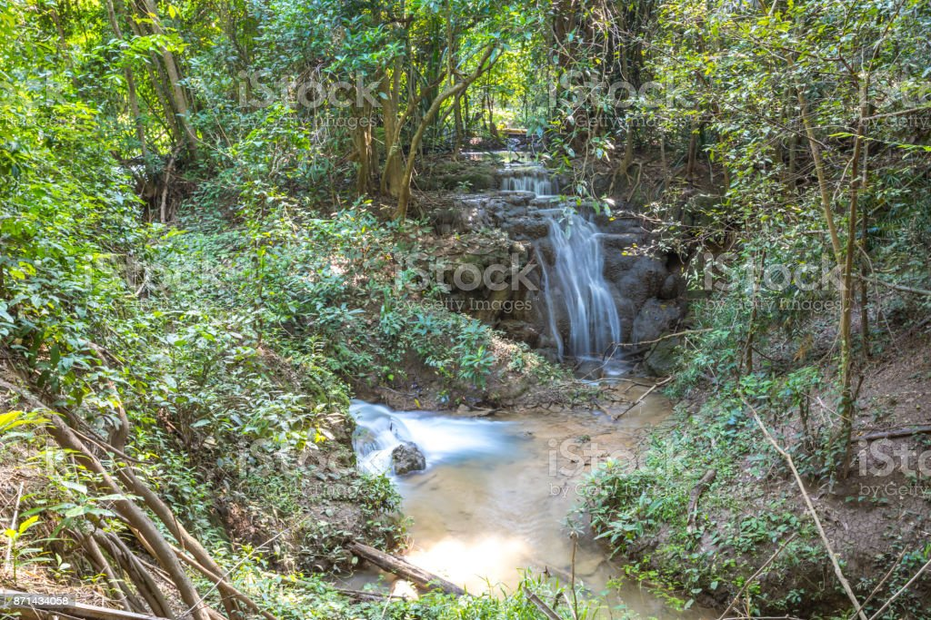 Huay Mae Khamin waterfall stock photo