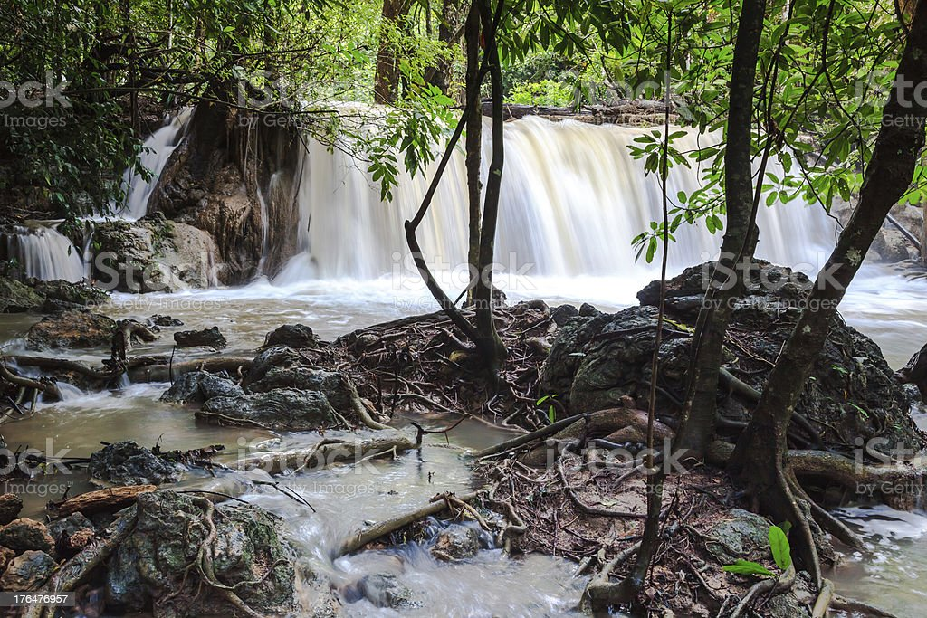 Huay mae khamin waterfalls royalty-free stock photo