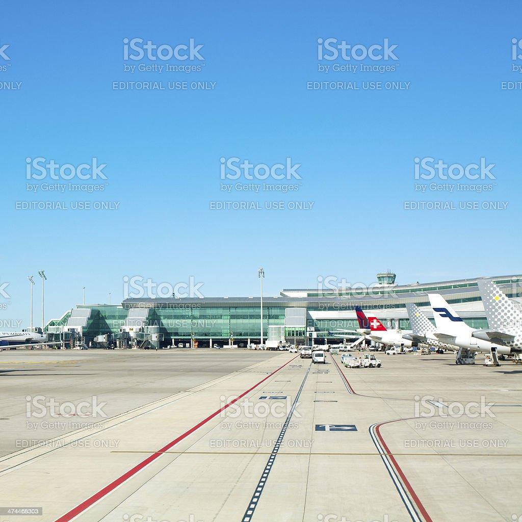 hub terminal at El Prat, Barcelona stock photo
