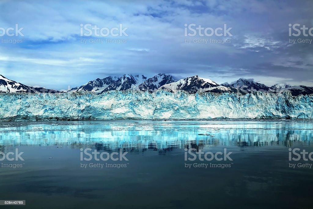 Hubbard Glacier in Alaska stock photo