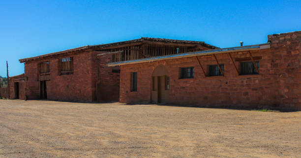hubbell trading post national historic site - arizona - native american reservation stock photos and pictures
