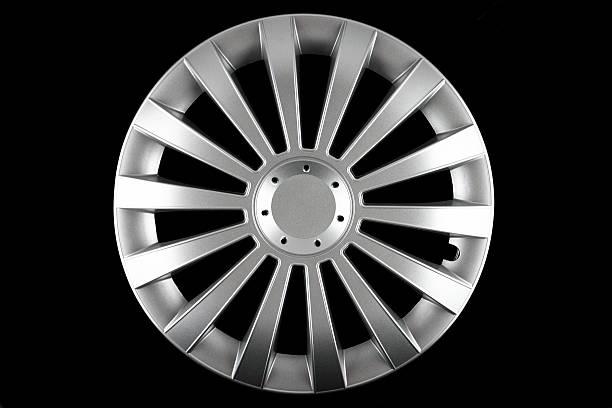 hubcap isolated - wheel black background bildbanksfoton och bilder