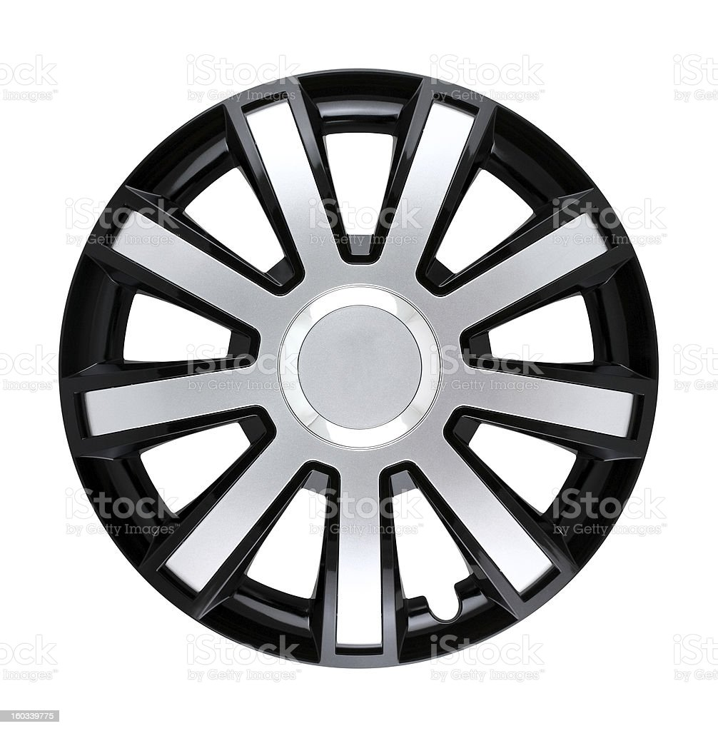 hubcap isolated stock photo