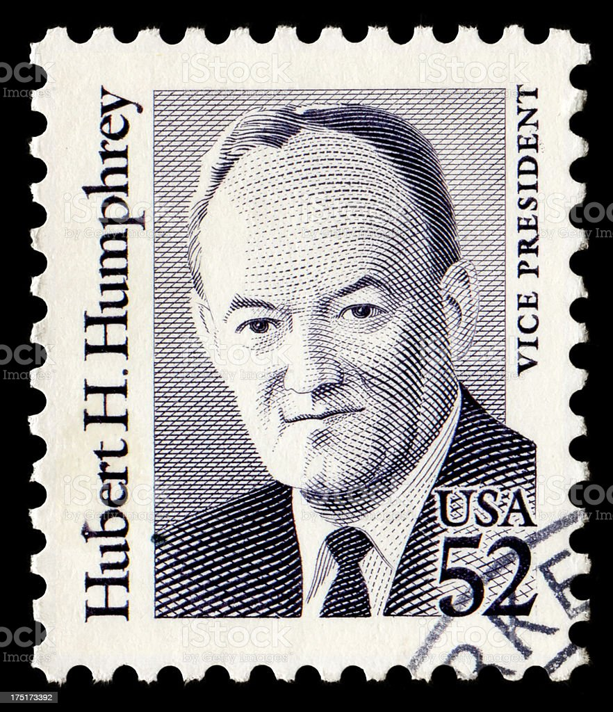 Hubert H.Humphrey royalty-free stock photo