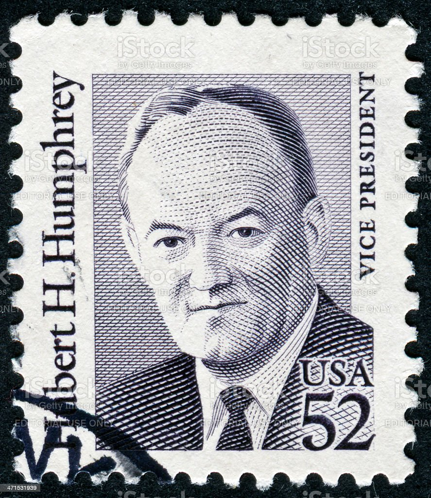 Hubert H. Humphrey Stamp stock photo