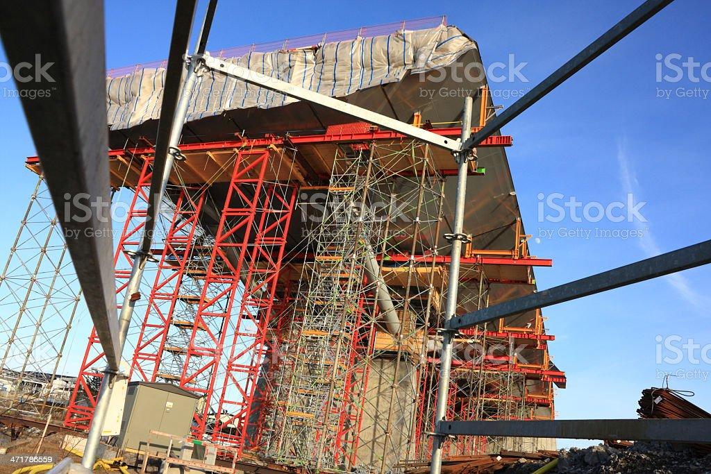 Huddle view of bridge royalty-free stock photo