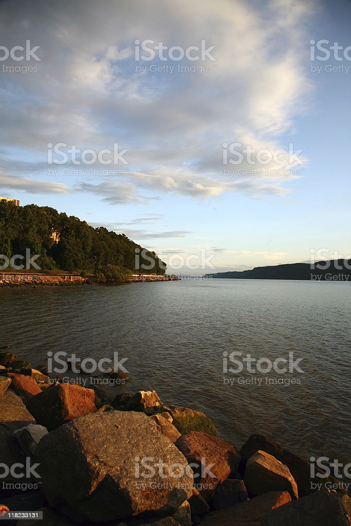 Hudson River Cloudscape royalty-free stock photo