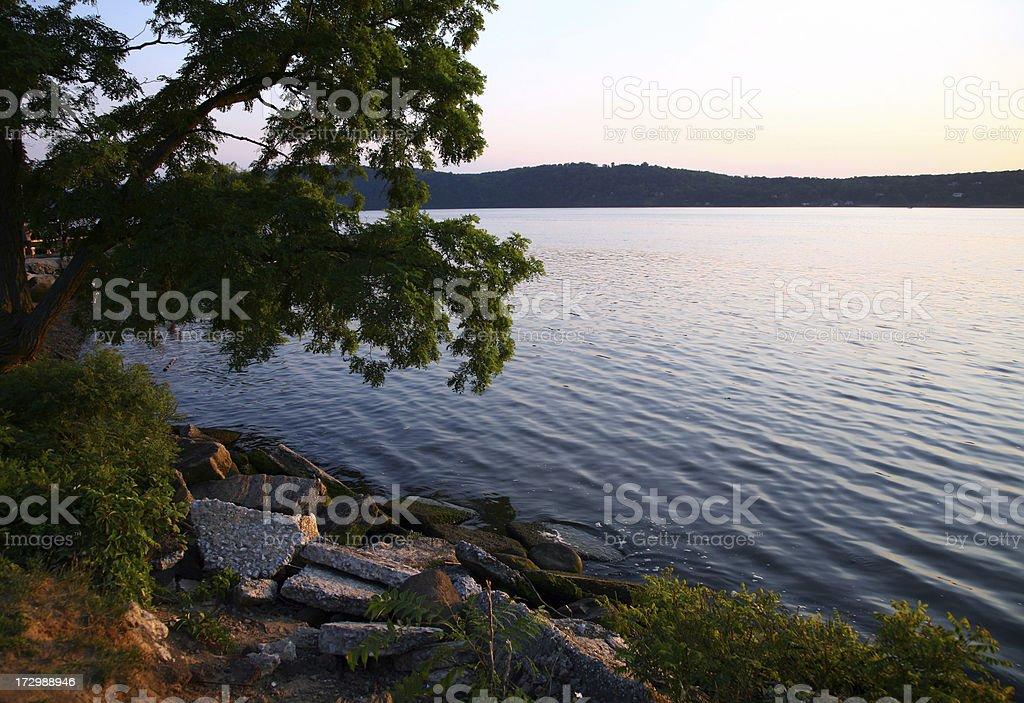 Hudson River Dusk royalty-free stock photo
