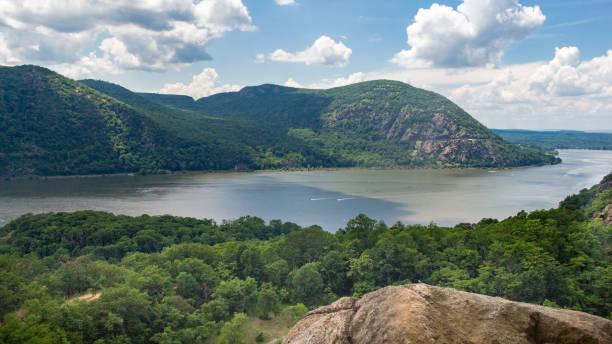 Hudson River Mountain Overlook stock photo