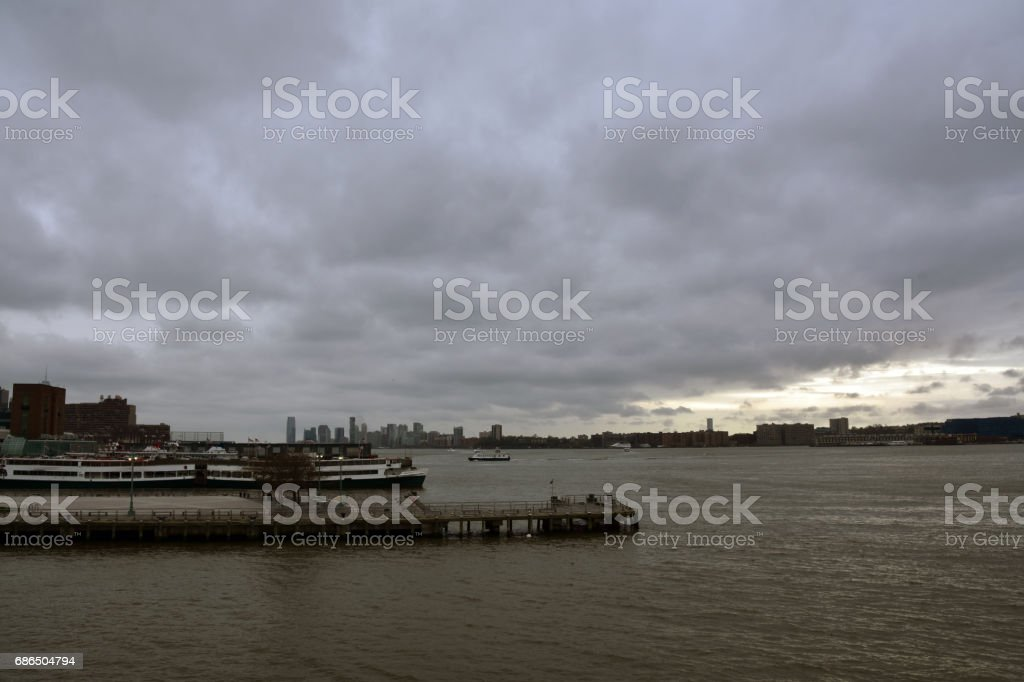 Hudson River New York foto stock royalty-free