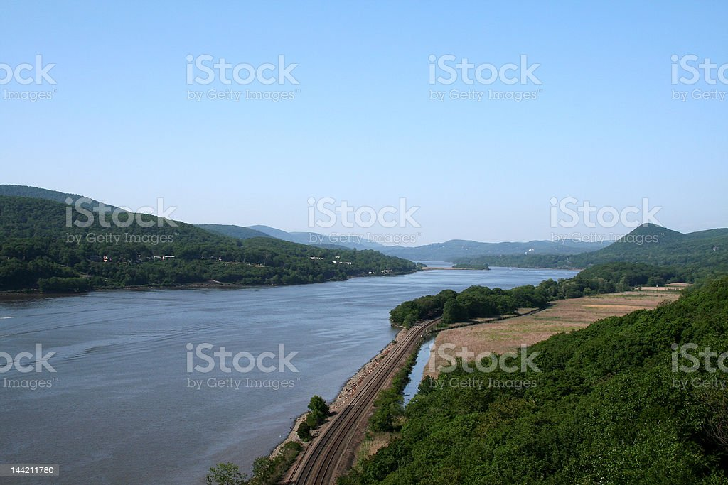 Hudson River, NY royalty-free stock photo