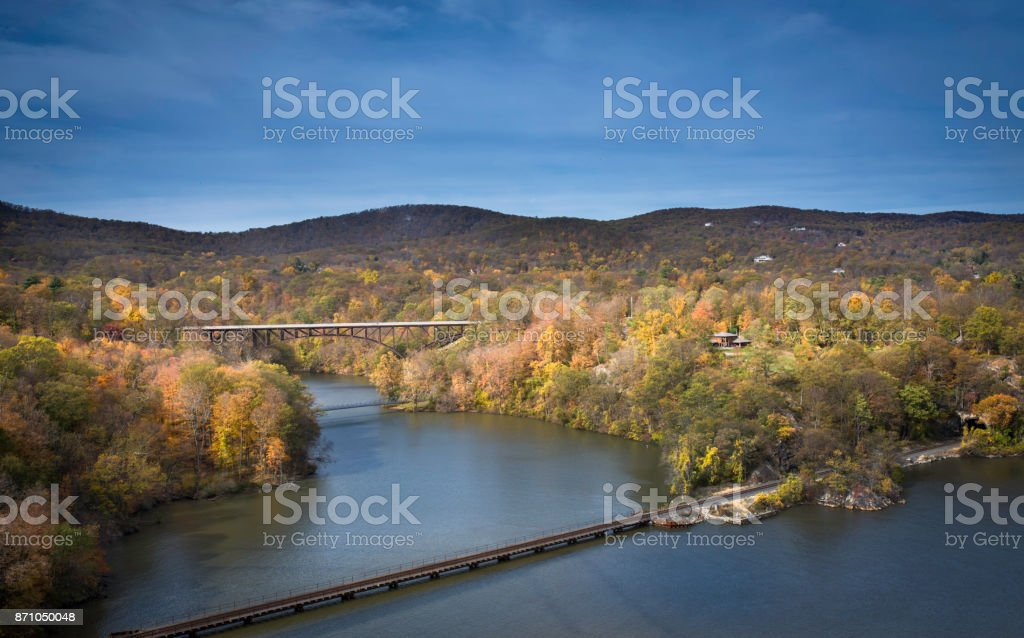Hudson River stock photo