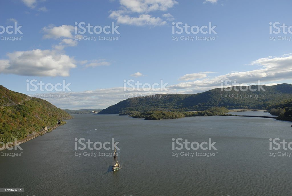 Hudson River: Shot from Bear Mountain Bridge royalty-free stock photo