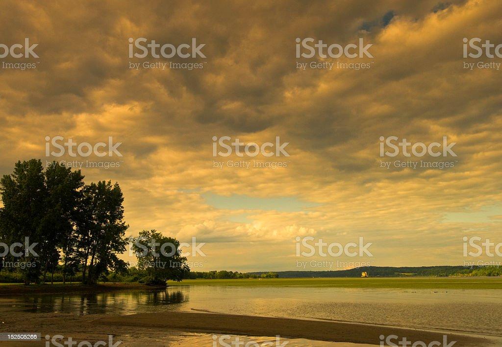 Hudson River Sunset USA royalty-free stock photo