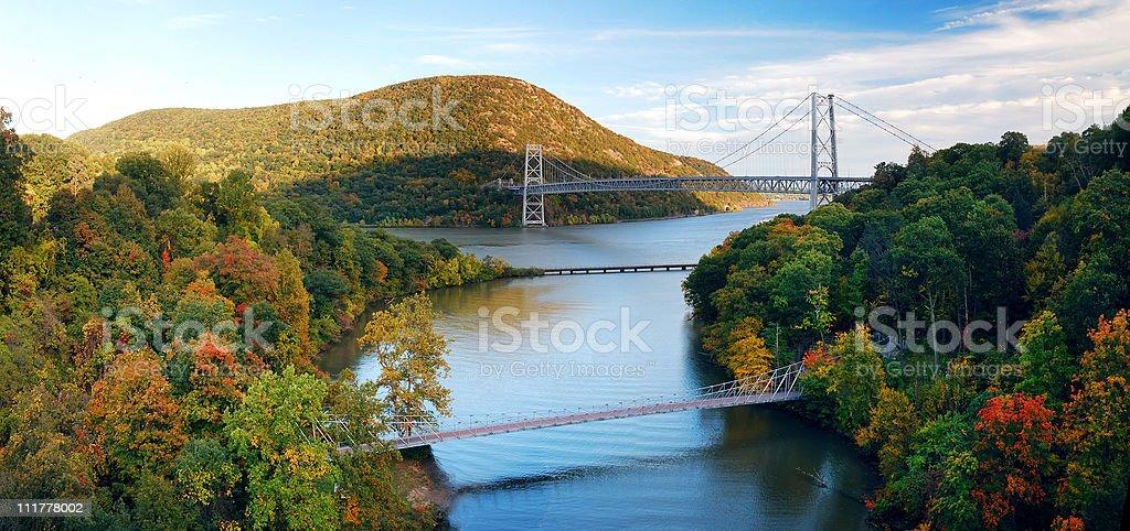 Hudson River valley panorama stock photo