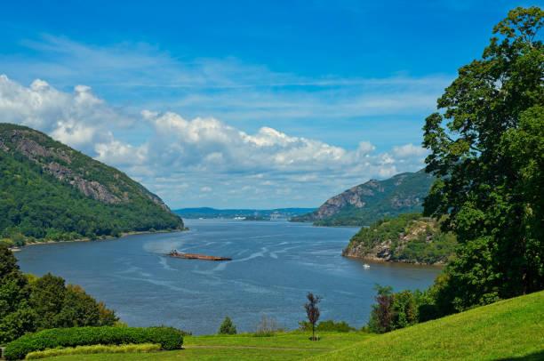 Hudson River vista stock photo