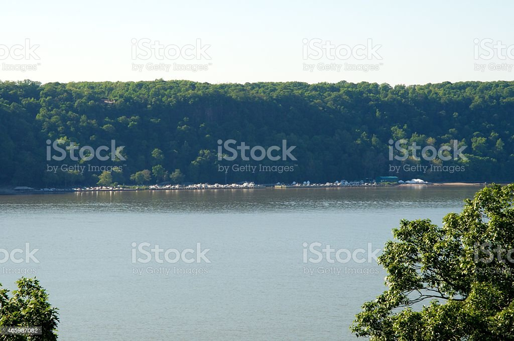 Hudson River Yacht Club from NYC Closer stock photo
