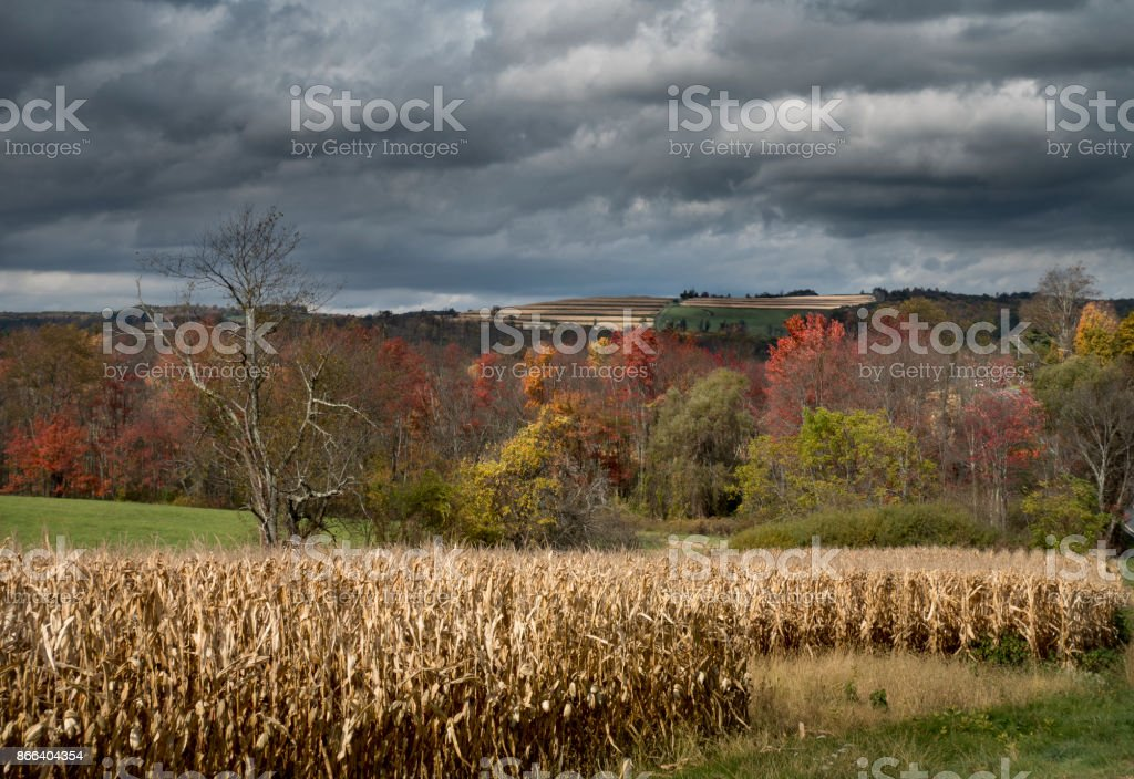 Hudson Valley Countryside in Autumn stock photo