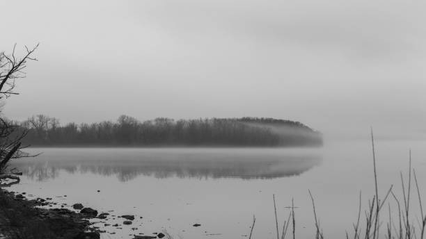 Hudson Valley Foggy Afternoon stock photo