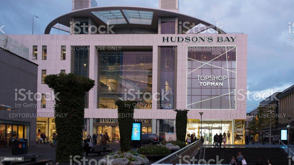 Hudson`s Bay in Rotterdam stock photo