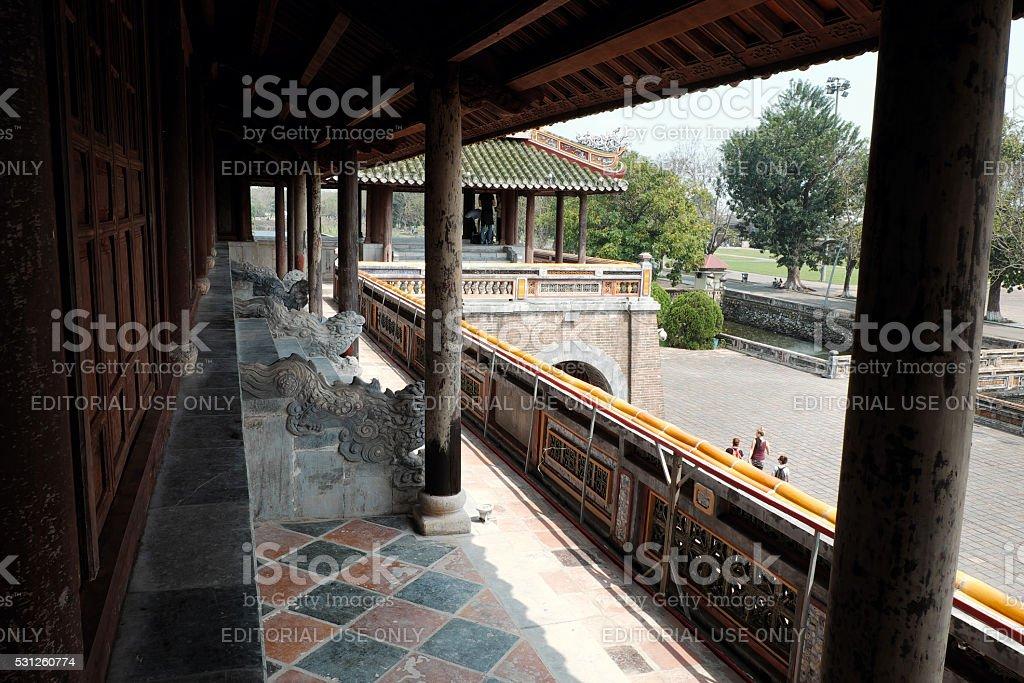 Hue Citadel, culture heritage of vietnam stock photo