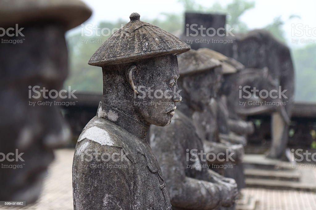 Hue, Vietnam: Royal Tomb stock photo
