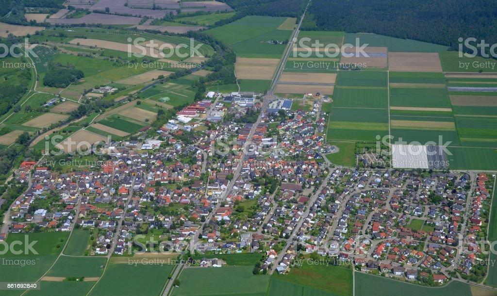 Huegelsheim, Baden Germany stock photo