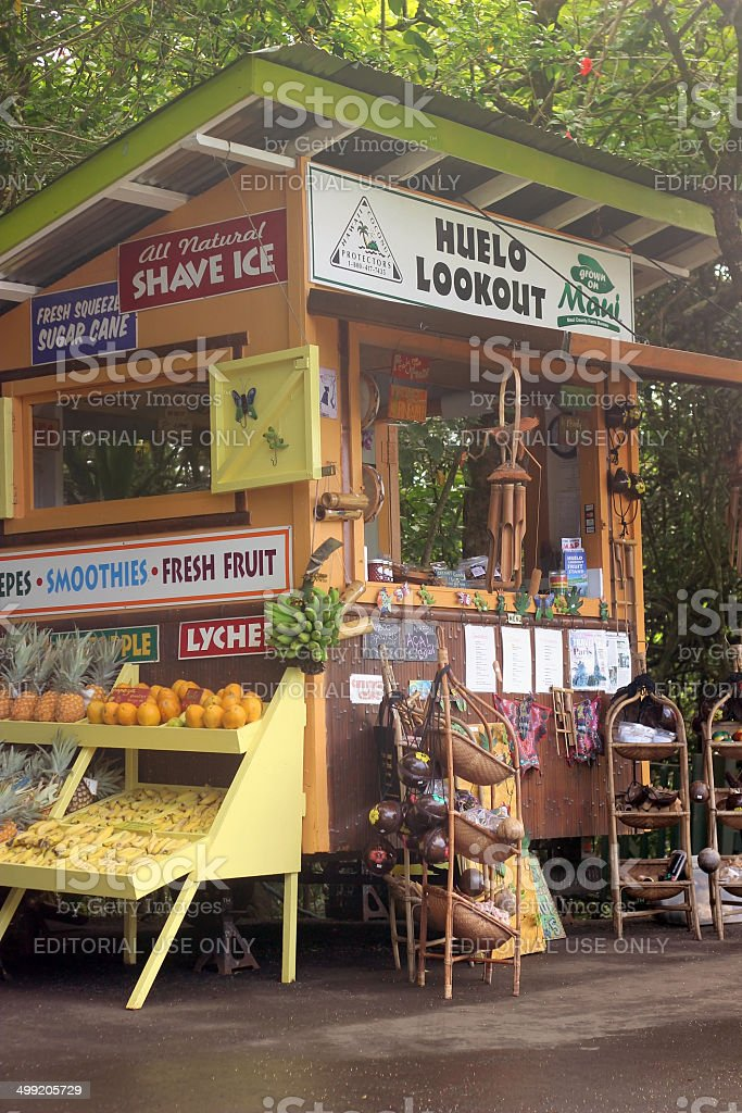 Huelo Lookout Fruit Stand stock photo