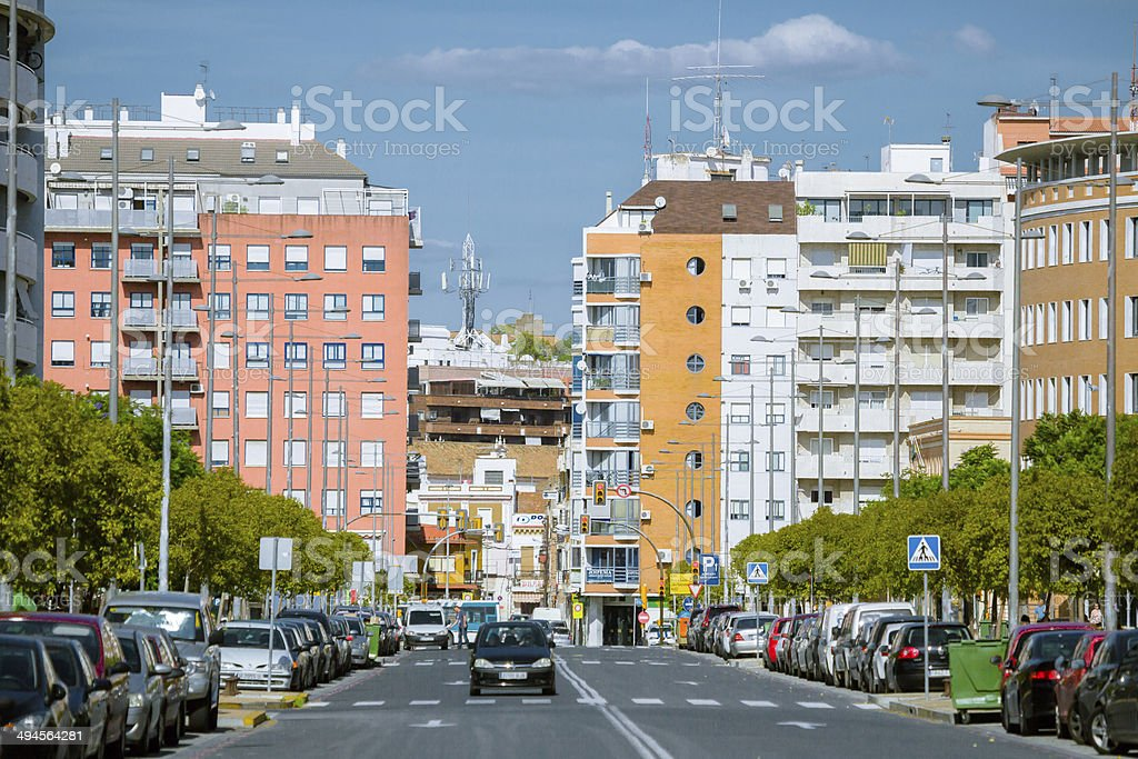 Huelva City Center in the Weekend stock photo