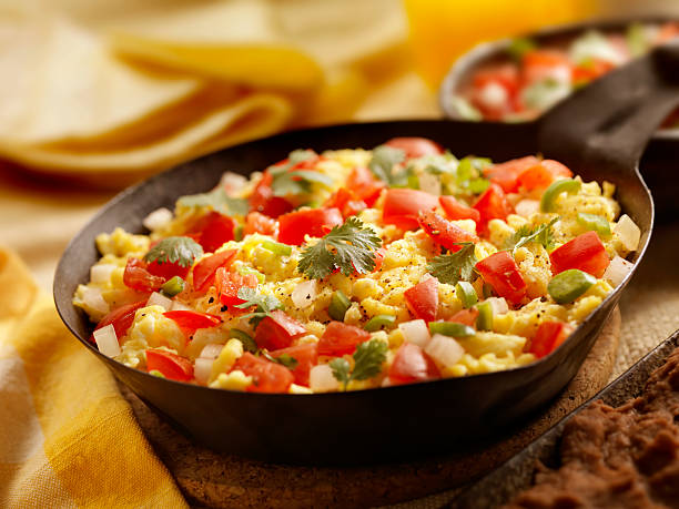 huevos rancheros - onion juice stock photos and pictures