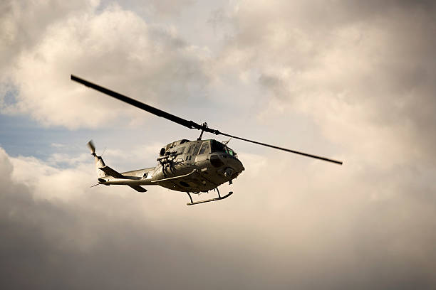 Huey Helicopter stock photo