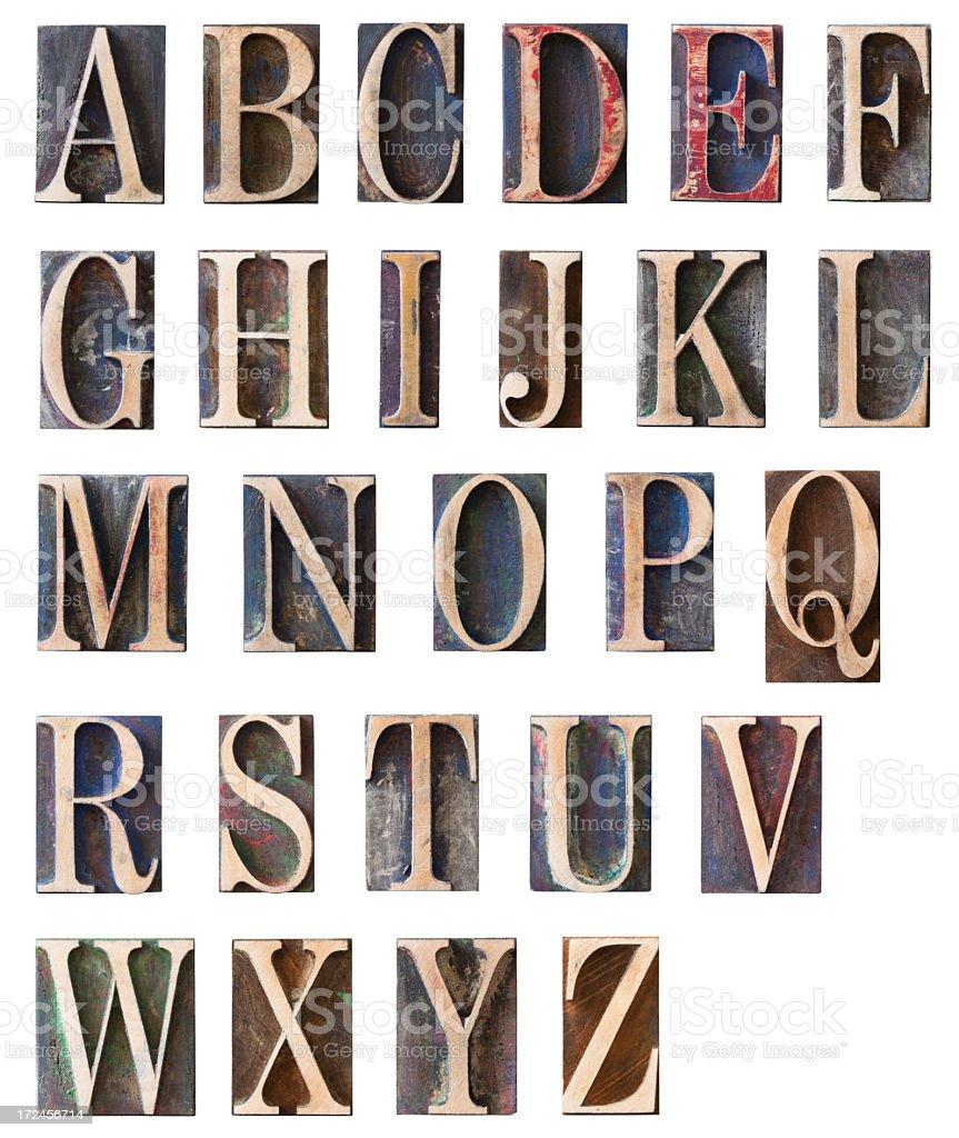 Huge Alphabet Set royalty-free stock photo